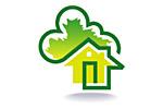 Загородный дом. Деревянное домостроение. Цветы. Ландшафтный дизайн 2017. Логотип выставки